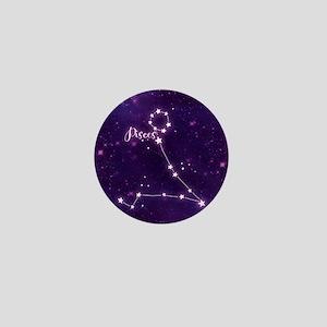 Pisces Zodiac Constellation Mini Button
