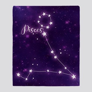 Pisces Zodiac Constellation Throw Blanket