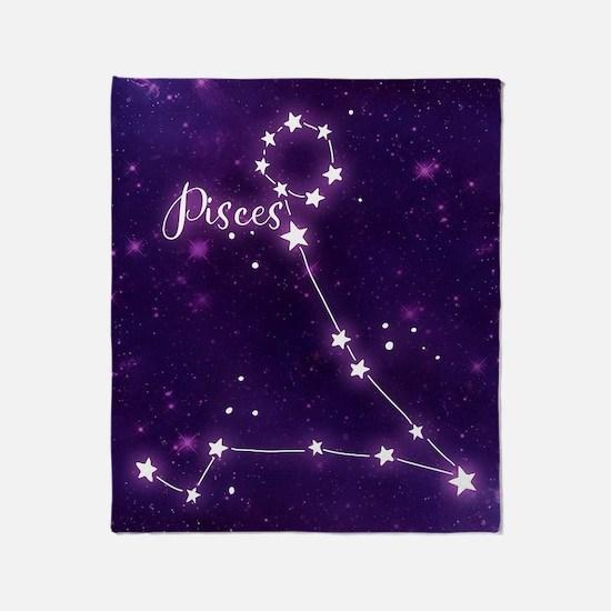 Pisces Zodiac Constellation Throw Blanket