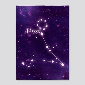 Pisces Zodiac Constellation 5'x7'Area Rug
