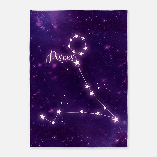 Pisces Zodiac Constellation 5'x7'Area Rug