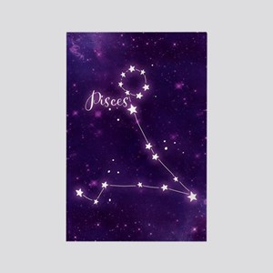 Pisces Zodiac Constellation Rectangle Magnet