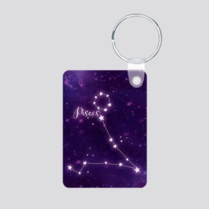 Pisces Zodiac Constellatio Aluminum Photo Keychain