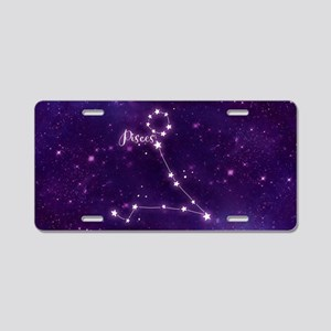 Pisces Zodiac Constellation Aluminum License Plate