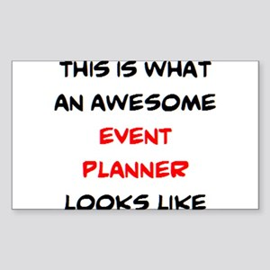 awesome event planner Sticker (Rectangle)