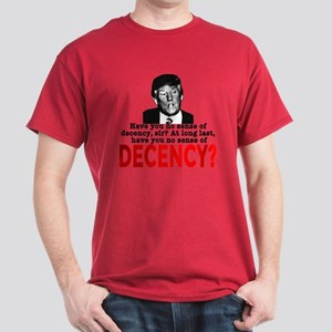 TRUMP NO Sense of Decency Dark T-Shirt