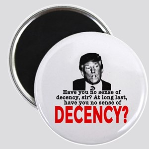 TRUMP NO Sense of Decency Magnet
