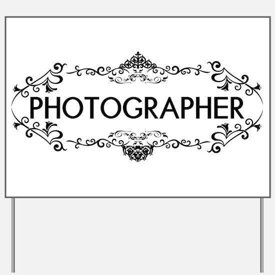 Wedding Series: Photography (Black) Yard Sign