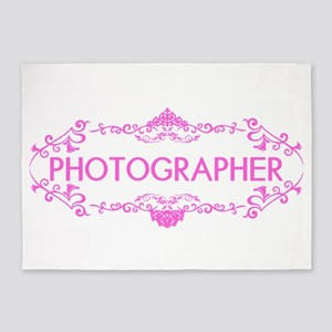 Wedding Series: Photography (Pink) 5'x7'Area Rug