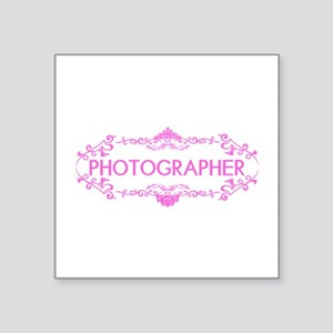 "Wedding Series: Photography Square Sticker 3"" x 3"""
