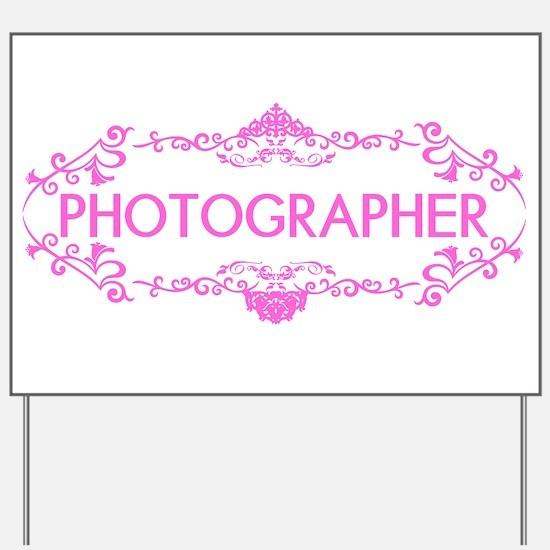 Wedding Series: Photography (Pink) Yard Sign