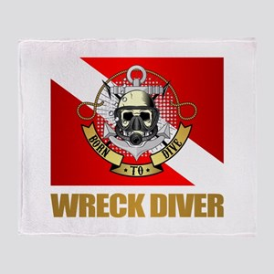 Wreck Diver (BDT) Throw Blanket