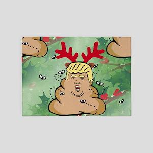 poop reindeer donald trump 5'x7'Area Rug