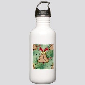 poop reindeer donald t Stainless Water Bottle 1.0L