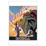 India Vintage Travel Advertising Print Poster