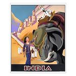 India Vintage Travel Advertising Print Small Poste