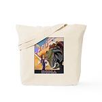 India Vintage Travel Advertising Print Tote Bag