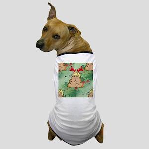 poop reindeer donald trump Dog T-Shirt