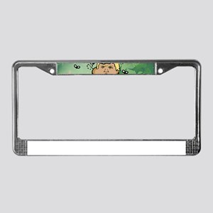 poop reindeer donald trump License Plate Frame