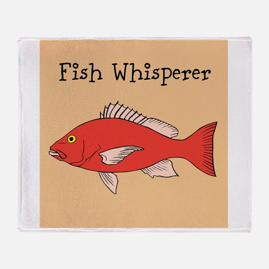 FISH WHISPERER Throw Blanket