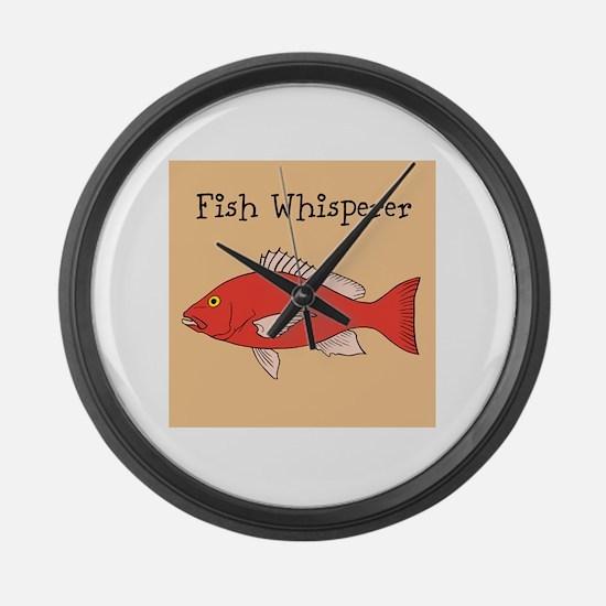 FISH WHISPERER Large Wall Clock