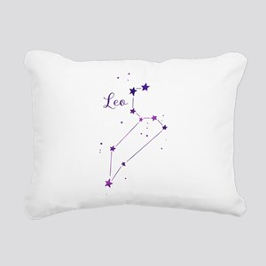 Leo Zodiac Constellation Rectangular Canvas Pillow