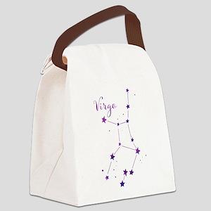 Virgo Zodiac Constellation Canvas Lunch Bag