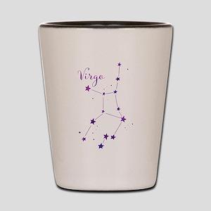 Virgo Zodiac Constellation Shot Glass