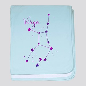 Virgo Zodiac Constellation baby blanket
