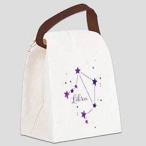 Libra Zodiac Constellation Canvas Lunch Bag