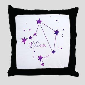 Libra Zodiac Constellation Throw Pillow