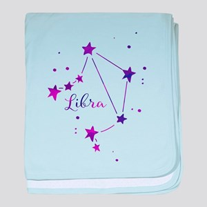 Libra Zodiac Constellation baby blanket