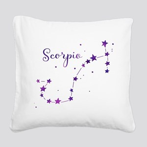 Scorpio Zodiac Constellation Square Canvas Pillow