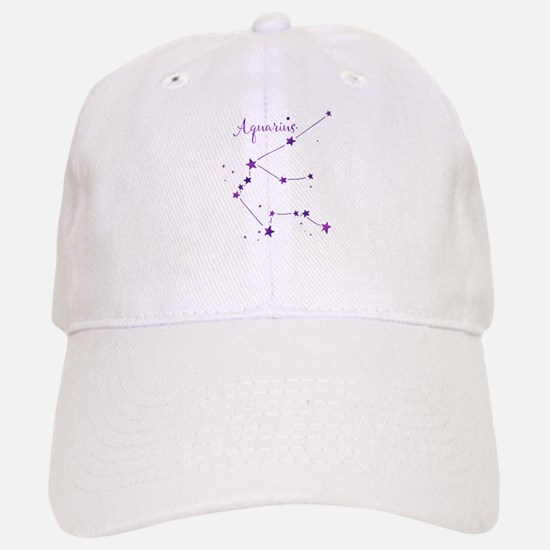 Aquarius Zodiac Constellation Baseball Baseball Baseball Cap
