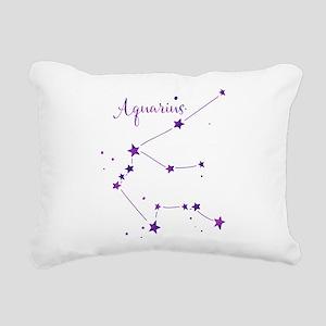 Aquarius Zodiac Constellation Rectangular Canvas P
