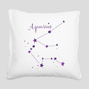Aquarius Zodiac Constellation Square Canvas Pillow