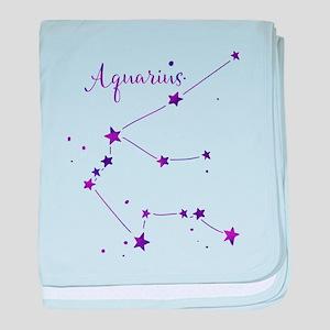 Aquarius Zodiac Constellation baby blanket