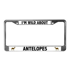 Wild About Antelopes License Plate Frame