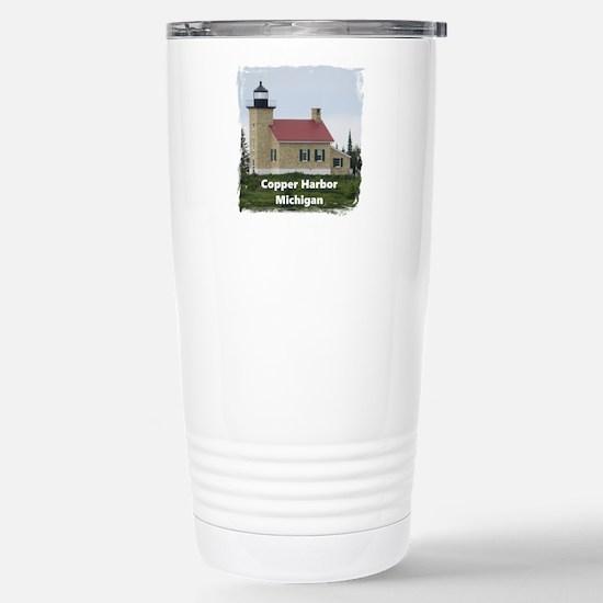 Copper Harbor Lighthouse Travel Mug