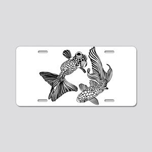 Two Fish Aluminum License Plate