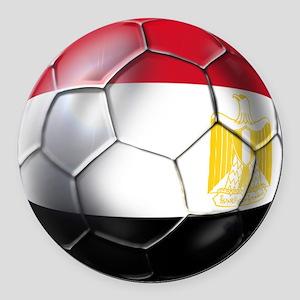 Egypt Soccer Ball Round Car Magnet