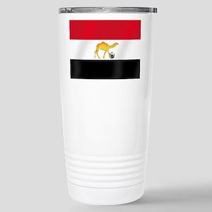 Egyptian Camel Flag Stainless Steel Travel Mug