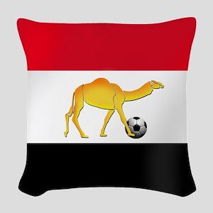 Egyptian Camel Flag Woven Throw Pillow