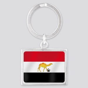 Egyptian Camel Flag Landscape Keychain