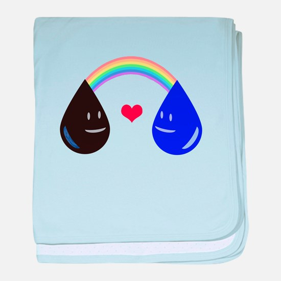 Opposites Attract - Oil & Water m baby blanket