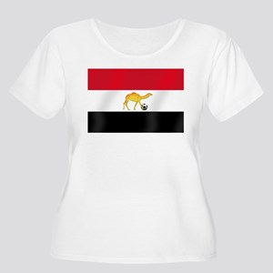 Egyptian Camel Flag Women's Plus Size Scoop Neck T