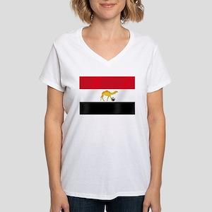 Egyptian Camel Flag Women's V-Neck T-Shirt