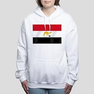 Egyptian Camel Flag Women's Hooded Sweatshirt