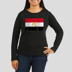 Egyptian Camel Flag Women's Long Sleeve Dark T-Shi
