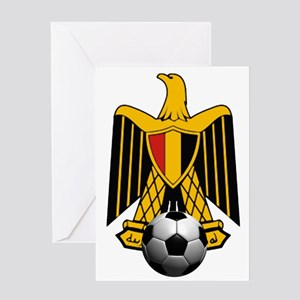 Egyptian Football Eagle Greeting Cards